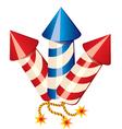Cartoon fireworks rockets vector