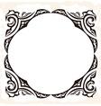Retro frame decorative vintage background vector