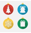 Set of christmas and new year icons flat icons vector