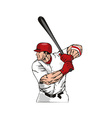 Baseball player batter vector