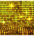 Shiny gold mosaic background vector