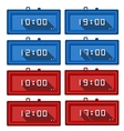Icons for digital clocks vector