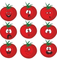 Emotion cartoon red tomato vegetables set 015 vector