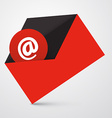 At sign in red envelope - email icon vector