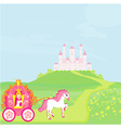Princess in carriage vector