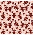 Children seamless valentine background vector