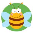 Bee cartoon character vector
