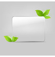 Glass frame with leafs vector