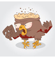 Zombie bird vector