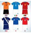 Soccer uniforms vector