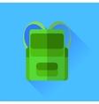 Green backpack vector