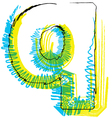 Sketch font letter q vector
