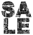 Sale word written with promotional advertising vector