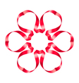 Flowers ribbon vector