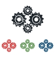 Cogs grunge icon set vector