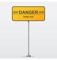 Danger road sign vector