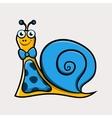 Gentleman cartoon snail with tie vector