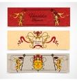 Heraldic banners set vector