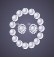 Design classic pearl jewelry on gray background vector
