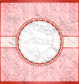 Crumpled vintage lace frame vector