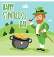 Cartooned happy st patrick day poster vector