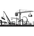 Industrial construction scene vector