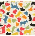 Grunge farm animals vector
