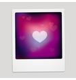 Heart sign on polaroid frame - abstract car vector