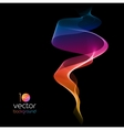 Shiny color waves over dark backgrounds vector