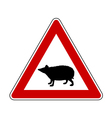 Hedgehog warning sign vector