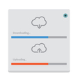 Cloud download and upload 8 vector