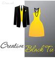 Creative black tie vector