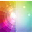 Abstract mosaic color of the rainbow behind a vector