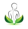 Human spine logo vector