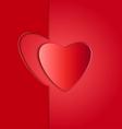 Heart paper frame copy vector