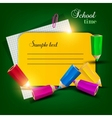 Colorful note tag vector