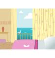 Hotel room vector