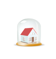 House covered with a glass cover vector
