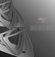 Gray shape abstract background vector