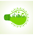 Ecology concept with bulb- vector