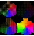 Set of abstract rainbow colorful background vector