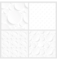 Set of four seamless white backgrounds vector