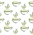 Cups of herbal tea seamless pattern vector