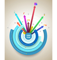 Abstract business info graphics circle and arrows vector