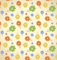Flower pattern seamless background green yellow vector