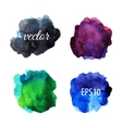 Watercolor blots isolated on white background vector