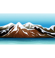 Mountain covered with snow vector