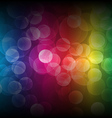 Rainbow bokeh background vector