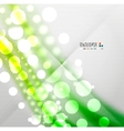Blurred waves and lights modern background vector