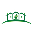 Green house ecology concept logo vector